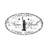 Timbro di gomma di New York Fotografia Stock