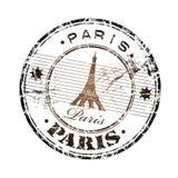 Timbro di gomma di Parigi Immagine Stock