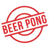 Timbro di gomma di Pong della birra Fotografia Stock Libera da Diritti