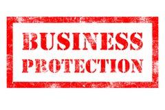 Timbro di gomma di protezione di affari Immagine Stock