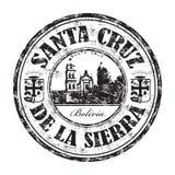 Timbro di gomma di Santa Cruz de la Sierra Fotografia Stock