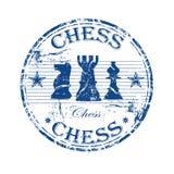 Timbro di gomma di scacchi Immagine Stock