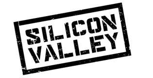 Timbro di gomma di Silicon Valley Fotografie Stock Libere da Diritti