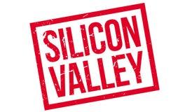 Timbro di gomma di Silicon Valley Fotografie Stock