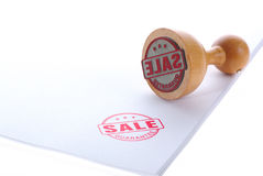 Timbro di gomma di vendita Immagini Stock