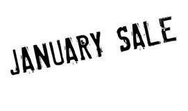 Timbro di gomma di vendita di gennaio fotografia stock