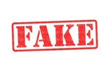 Timbro di gomma falso fotografia stock