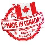 Timbro di gomma fatto nel Canada Fotografia Stock Libera da Diritti