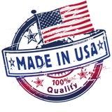 Timbro di gomma fatto in U.S.A. Immagine Stock