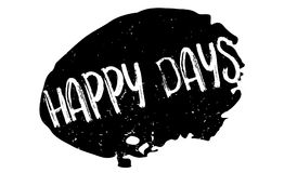 Timbro di gomma felice di giorni illustrazione di stock
