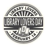 Timbro di gomma di giorno degli amanti delle biblioteche royalty illustrazione gratis
