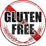 Timbro di gomma nero del glutine e rosso libero dello stylr di lerciume Fotografia Stock Libera da Diritti