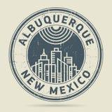 Timbro di gomma o etichetta di lerciume con testo Albuquerque, New Mexico Fotografie Stock Libere da Diritti