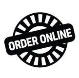 Timbro di gomma online di ordine royalty illustrazione gratis