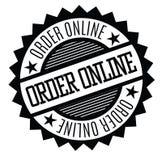 Timbro di gomma online di ordine illustrazione di stock