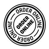Timbro di gomma online di ordine illustrazione vettoriale