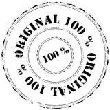 Timbro di gomma: Originale di 100% Immagini Stock