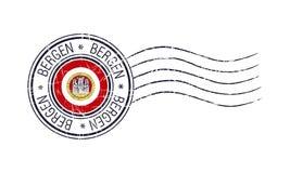 Timbro di gomma postale di lerciume della città di Bergen royalty illustrazione gratis