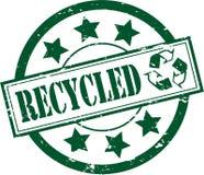 Timbro di gomma riciclato (vettore) Fotografie Stock Libere da Diritti