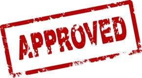 Timbro di gomma rosso approvato Immagini Stock Libere da Diritti