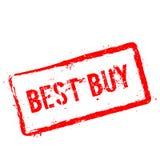 Timbro di gomma rosso di Best Buy isolato su bianco Immagine Stock Libera da Diritti