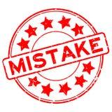 Timbro di gomma rotondo di parola rossa di errore di lerciume su fondo bianco royalty illustrazione gratis