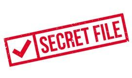 Timbro di gomma segreto dell'archivio Immagini Stock Libere da Diritti