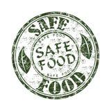 Timbro di gomma sicuro del grunge dell'alimento Fotografie Stock Libere da Diritti