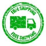 Timbro di gomma di spedizione libero di garanzia con il camion immagini stock libere da diritti