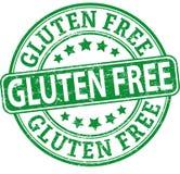 Timbro di gomma strutturato rotondo libero del glutine verde Immagine Stock