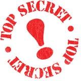 Timbro di gomma top-secret Immagini Stock Libere da Diritti