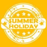 Timbro di gomma di vacanza estiva royalty illustrazione gratis