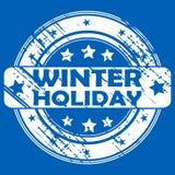Timbro di gomma di vacanza invernale illustrazione vettoriale