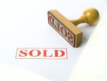 Timbro di gomma venduto Immagine Stock Libera da Diritti