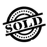 Timbro di gomma venduto Fotografie Stock Libere da Diritti