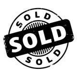 Timbro di gomma venduto Immagini Stock Libere da Diritti