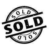 Timbro di gomma venduto Fotografia Stock Libera da Diritti