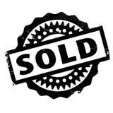Timbro di gomma venduto Immagine Stock