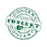 Timbro di gomma verde di concerto Fotografia Stock Libera da Diritti