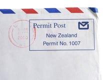 Timbro postale della Nuova Zelanda Immagine Stock Libera da Diritti