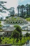 Timbu, Bhután - 10 de septiembre de 2016: Druk Wangyal Khangzang Stupa con 108 chortens, paso de Dochula, Bhután Foto de archivo libre de regalías