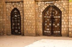 Timbuktu. Gates of the Islamic University of Sankore, Timbuktu, Mali Stock Image