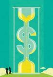 Time är pengar vektor illustrationer