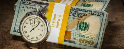 Time är pengar Royaltyfria Bilder