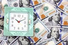 Time är pengar Arkivbild