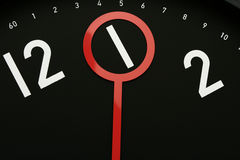 Time 1 o'clock. Hour hand pointed at 1 o'clock.Usable for design element for business indicating 1am or 1pm Royalty Free Stock Images