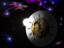 Time. It is time and the universe. Or the universe's time vector illustration
