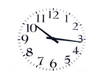 Time is. Now black on a white background Stock Photography