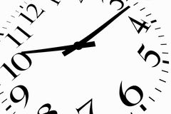 Time is. Now black on a white background Royalty Free Stock Image