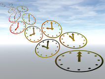 Time. Abstract background with time concept against beautiful sky Royalty Free Stock Photos